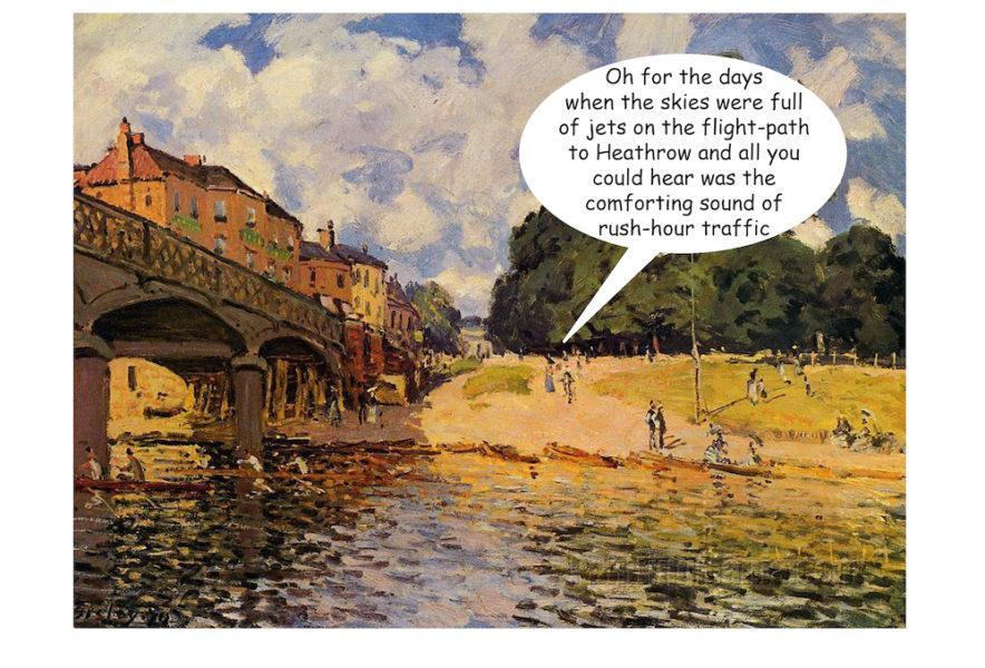 The Bridge at Hampton Court - Alfred Sisley