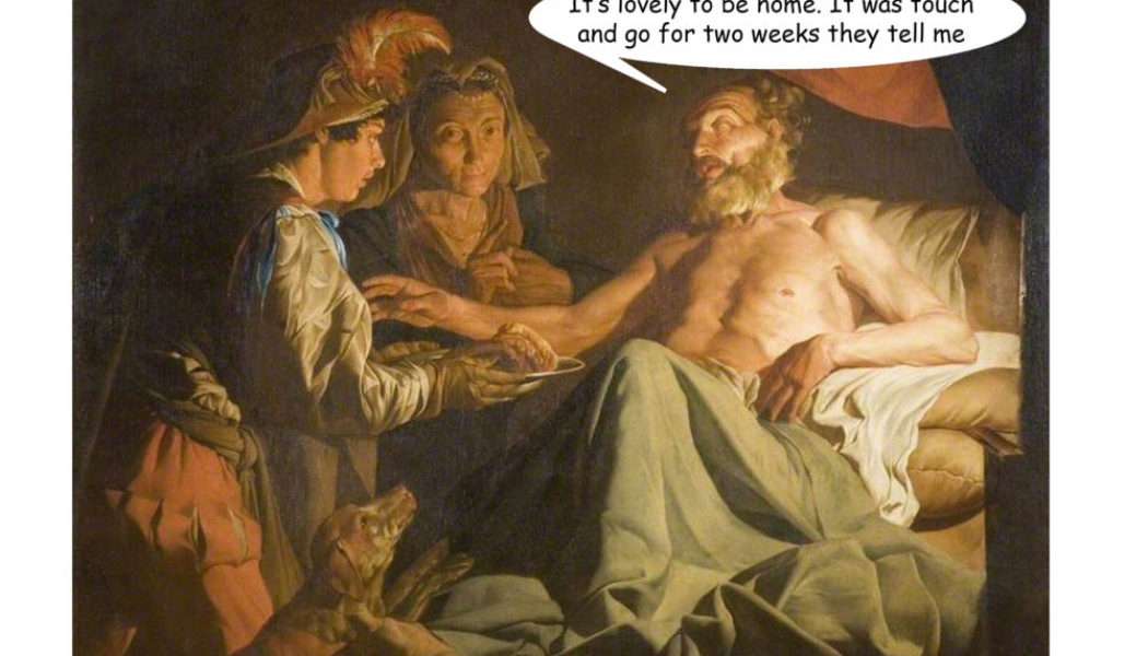 Isaac Blessing Jacob Mathias Stom