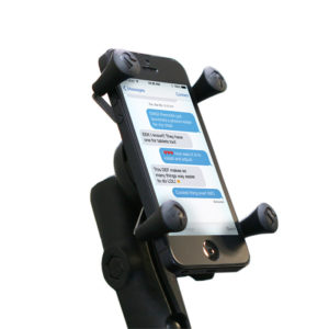 Electric powered wheelchair phone mount