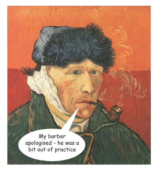 Van Gogh self portrait (after cutting ear off)